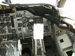 Co-pilot's seat close-up